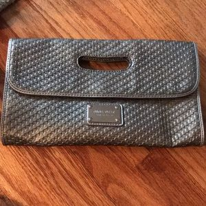 Nine West silver/ gray clutch